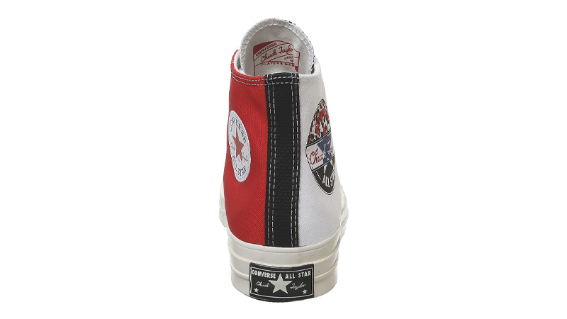 Converse All Star Hi 70s White University Red Back