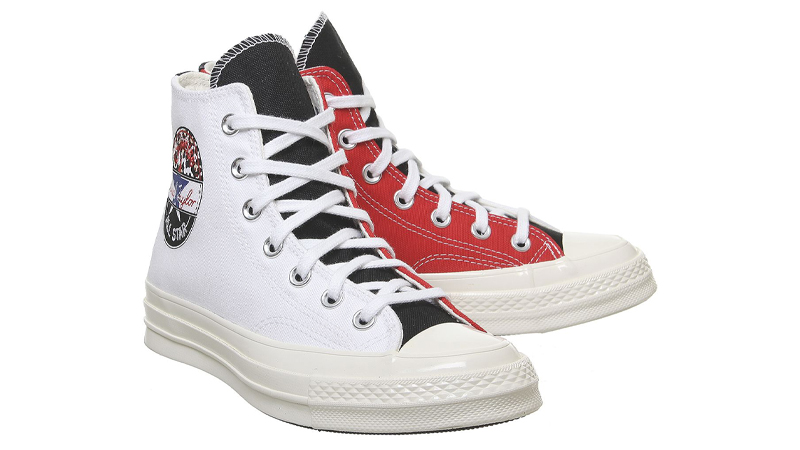 Converse All Star Hi 70s White University Red Front