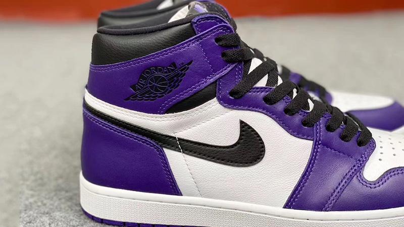 Jordan 1 Court Purple 2020 Closeup