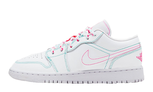 Jordan 1 Low GS White Aurora Green