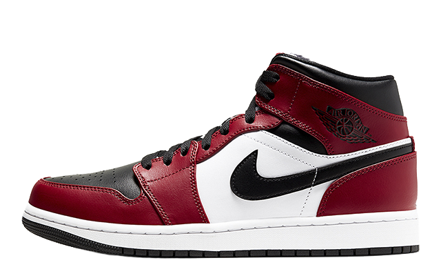 Jordan 1 Mid Chicago Toe Black Red 554724-069