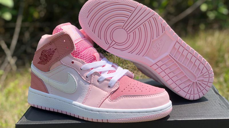 Jordan 1 Mid Digital Pink Cw5379 600 The Sole Womens