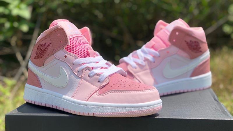 Jordan 1 Mid Digital Pink Lifestyle On box front