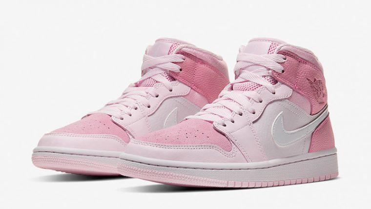 Jordan 1 Mid Digital Pink front thumbnail image