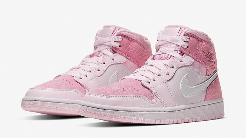 Jordan 1 Mid Digital Pink front