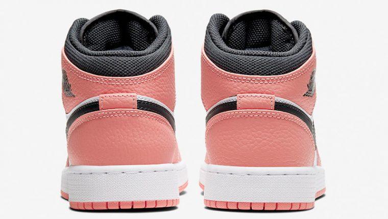 Jordan 1 Mid GS Pink Quartz 555112-603 back thumbnail image