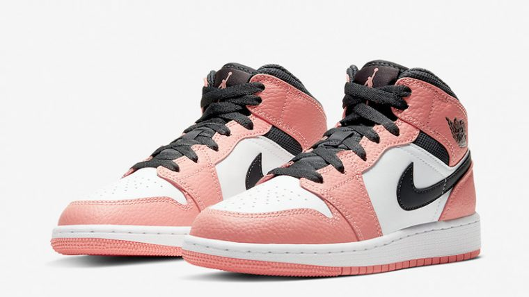 Jordan 1 Mid GS Pink Quartz 555112-603 front thumbnail image