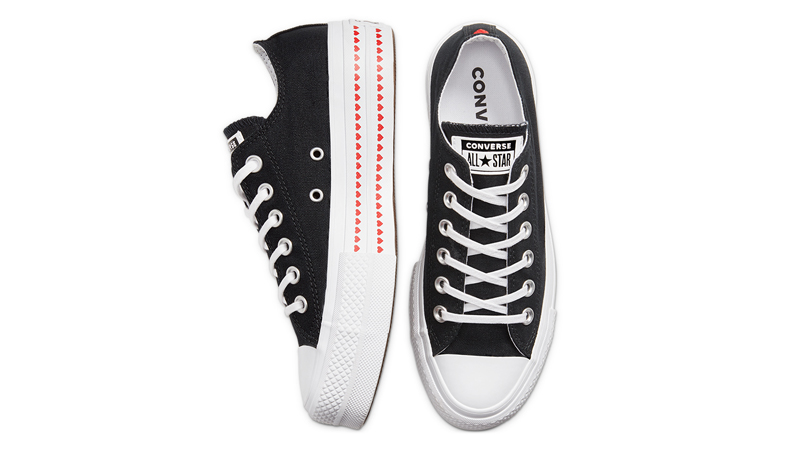 Love Fearlessly x Converse Chuck Taylor All Star Black Middle