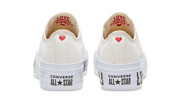 Love Fearlessly x Converse Chuck Taylor All Star White Back thumbnail image