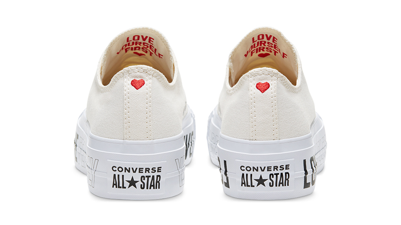 Love Fearlessly x Converse Chuck Taylor All Star White Back