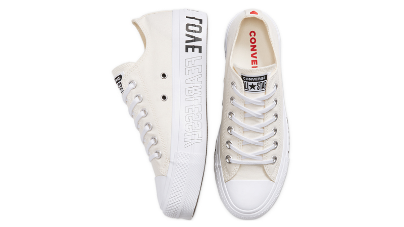 Love Fearlessly x Converse Chuck Taylor All Star White Middle
