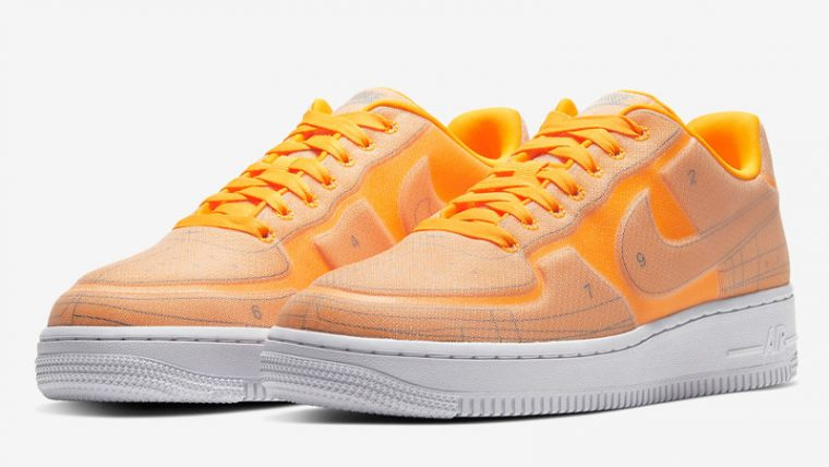 Nike Air Force 1 07 LX Orange Front thumbnail image