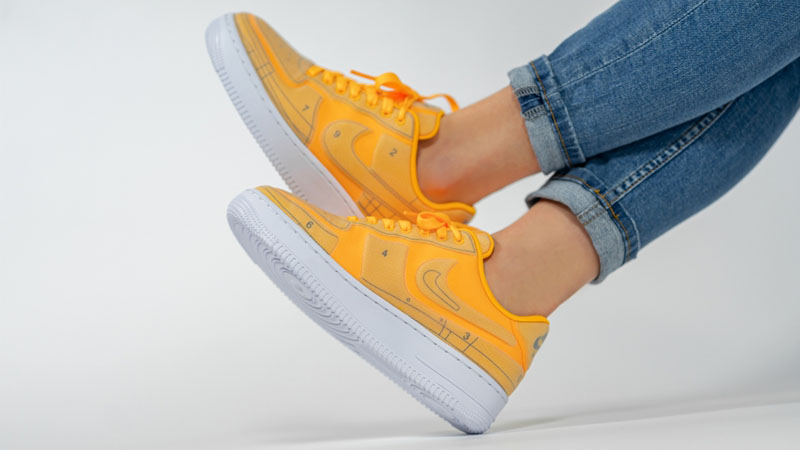 Nike Air Force 1 07 LX Orange On Foot