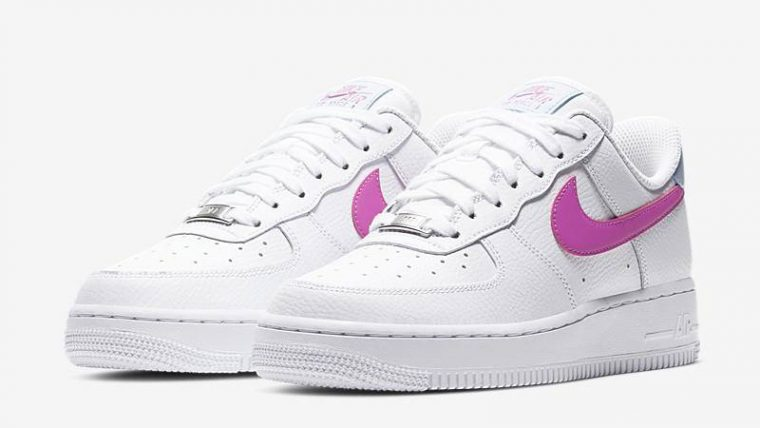 Nike Air Force 1 '07 White Pink Front thumbnail image
