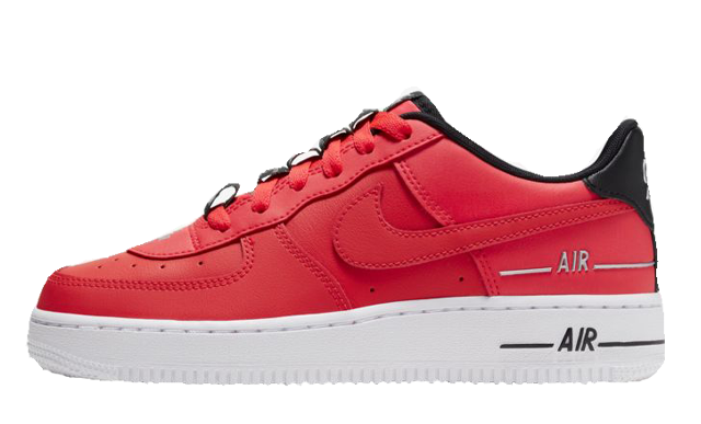 Nike Air Force 1 LV8 3 Laser Crimson Black