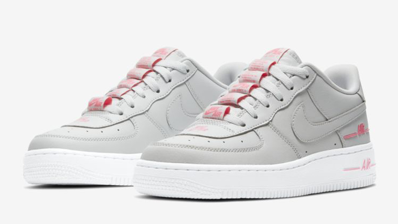 Buy \u003e pink and gray air force ones - 60