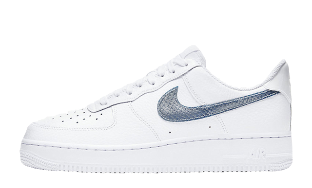 Nike Air Force 1 LV8 White Blue Snakeskin