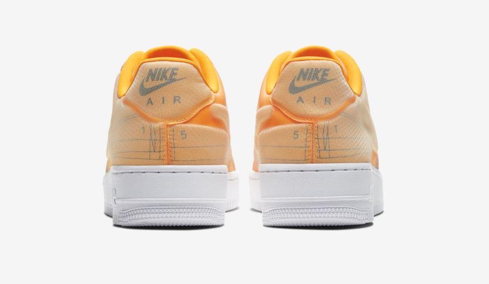 Nike Air Force 1 Laser Orange Schematic back