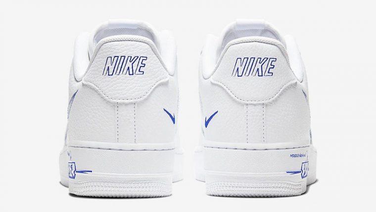 Nike Air Force 1 Low Sketch White Royal Back thumbnail image