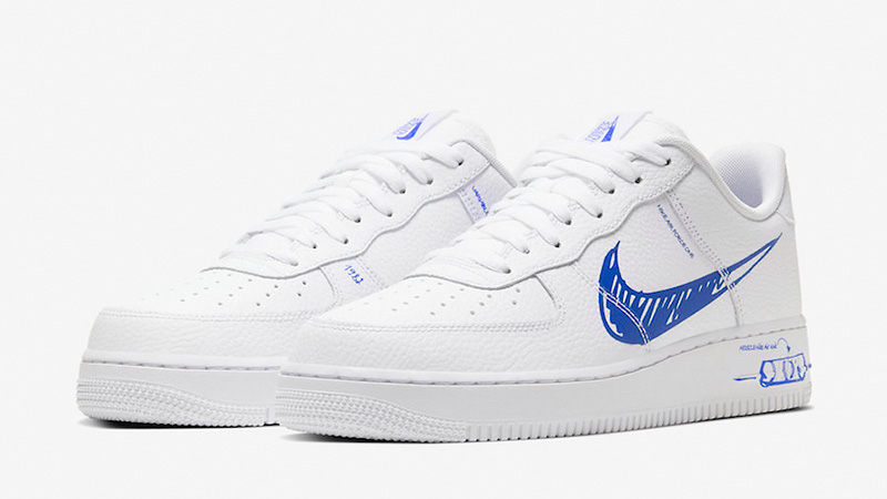 Nike Air Force 1 Low Sketch White Royal Front