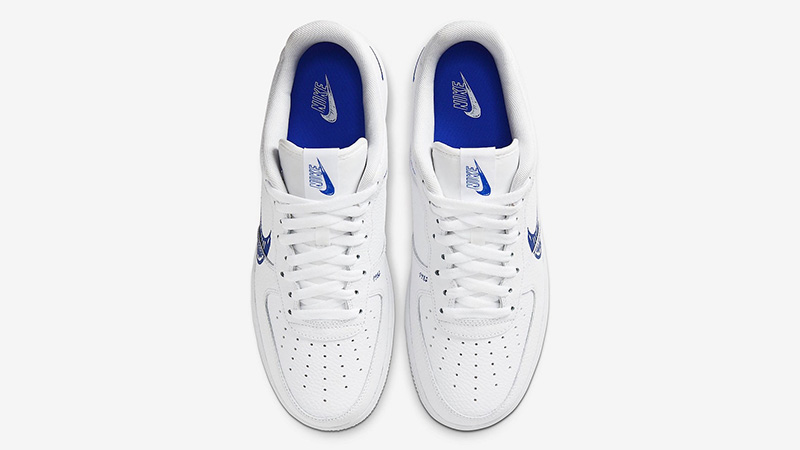 Nike Air Force 1 Low Sketch White Royal Middle