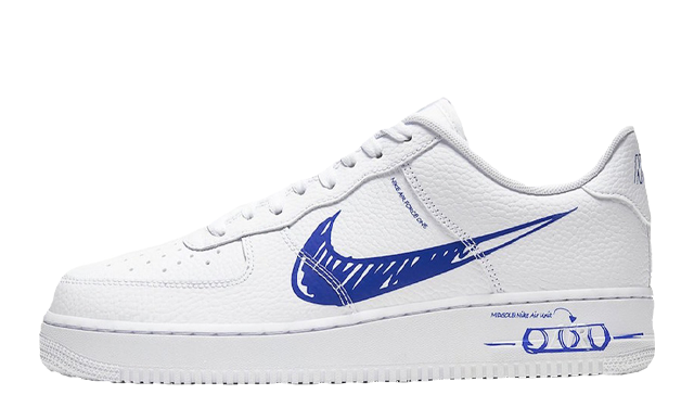 Nike Air Force 1 Low Sketch White Royal