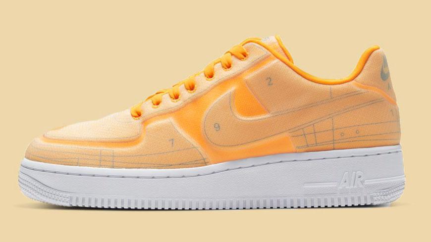 Nike Air Force 1 Schematic Orange