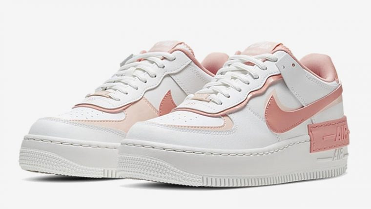 Nike Air Force 1 Shadow Pastel Pink Front thumbnail image
