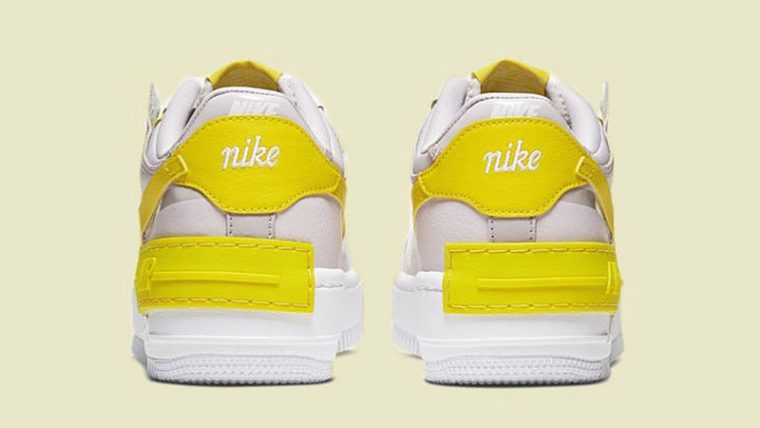 Nike Air Force 1 Shadow White Yellow Back thumbnail image