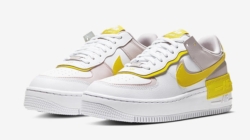 Nike Air Force 1 Shadow White Yellow Front