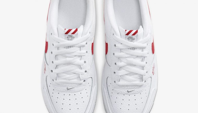 Nike Air Force 1 Utility White Red CZ4203-100 3 laces thumbnail image