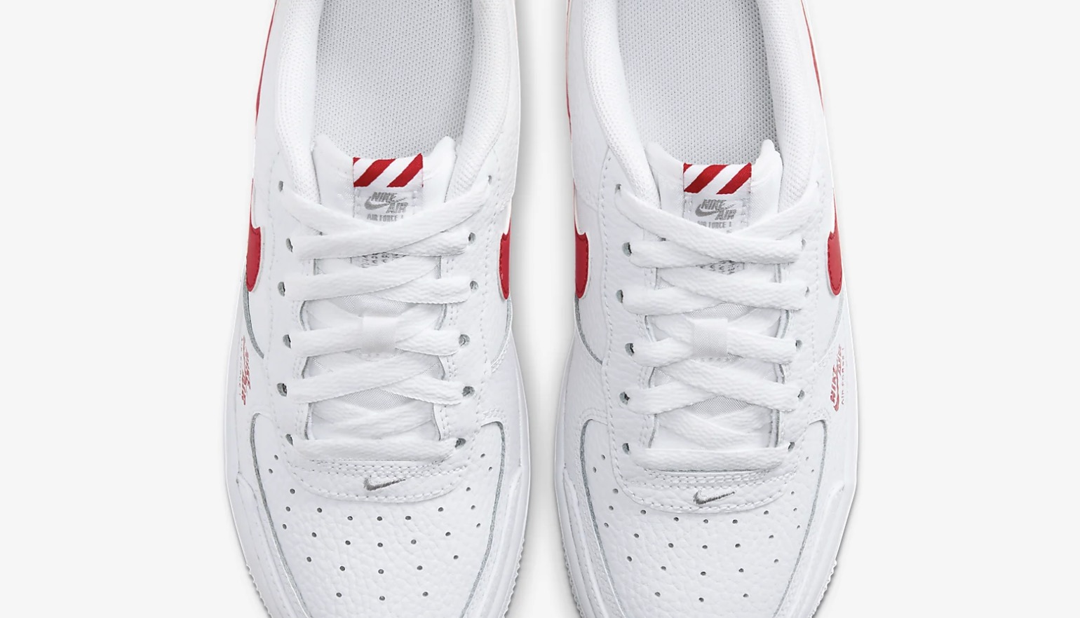 Nike Air Force 1 Utility White Red CZ4203-100 3 laces