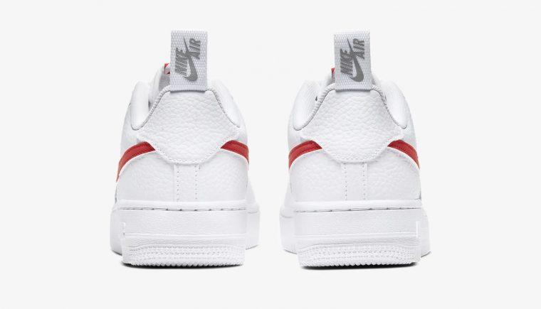 Nike Air Force 1 Utility White Red CZ4203-100 3 heel thumbnail image
