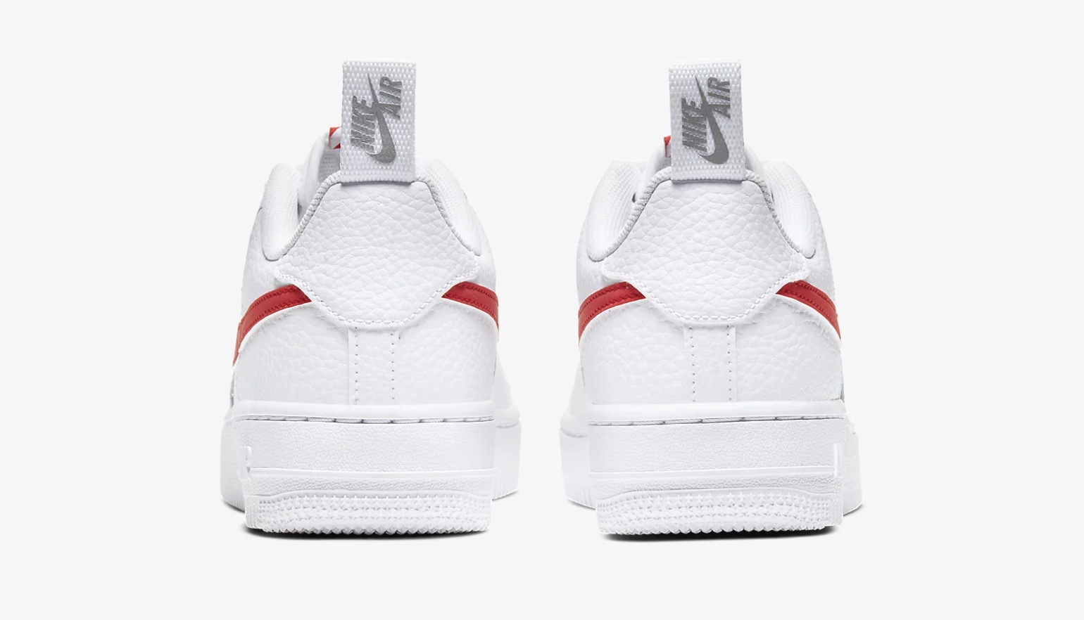 Nike Air Force 1 Utility White Red CZ4203-100 3 heel