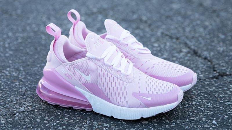Nike Air Max 270 Gs Pink Foam White Cv9645 600 The Sole Womens