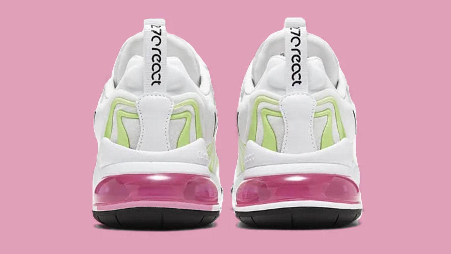 nike air max 27 white pink
