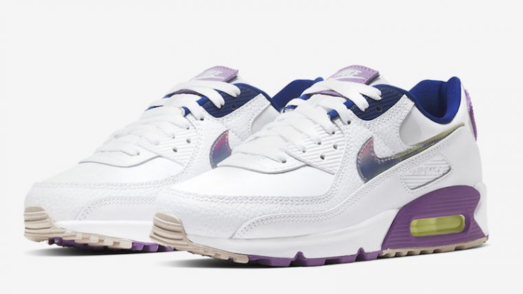 Nike Air Max 90 Easter White Purple Front thumbnail image
