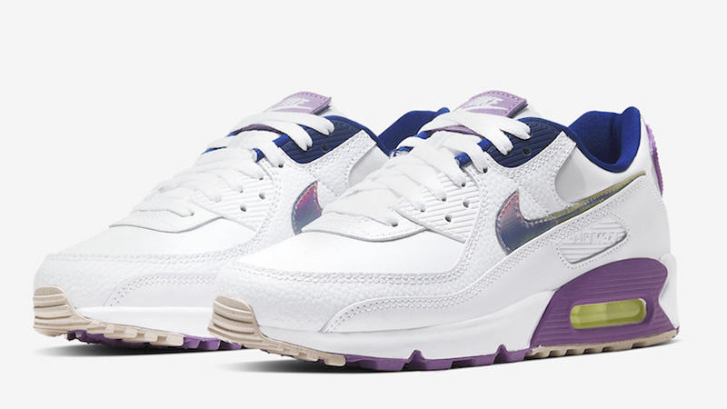 Nike Air Max 90 Easter White Purple Front