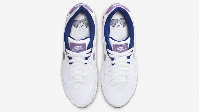 Nike Air Max 90 Easter White Purple Middle thumbnail image
