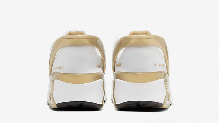 Nike Air Max 90 FlyEase White Metallic Gold CU0814-100 front thumbnail image