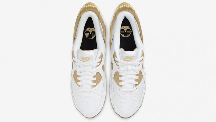 Nike Air Max 90 FlyEase White Metallic Gold CU0814-100 middle thumbnail image