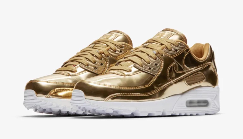 Nike Air Max 90 Liquid Metal Metallic Gold | CQ6639-700