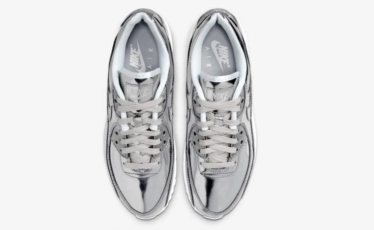 Nike Air Max 90 Liquid Metal Silver Chrome laces thumbnail image