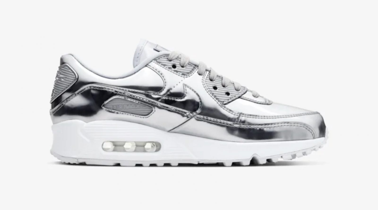 Nike Air Max 90 Liquid Metal Silver Chrome 2 right