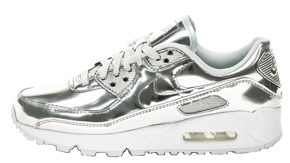 Nike Air Max 90 Liquid Metal Silver Chrome 2