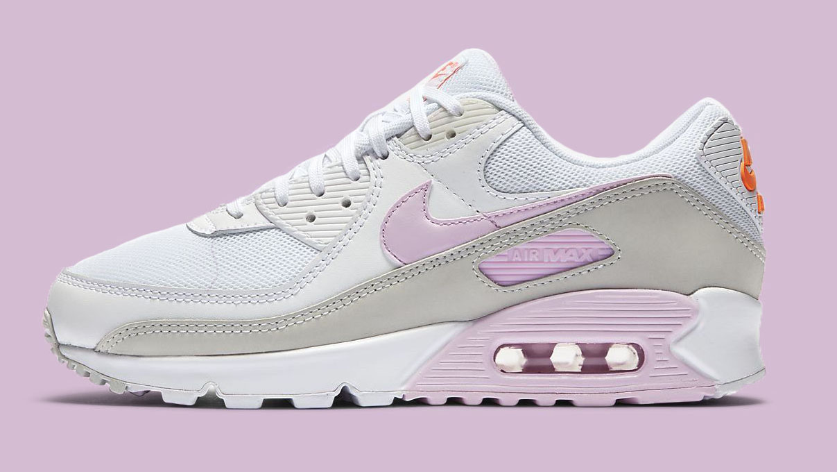 Nike Air Max 90 White Pink side copy