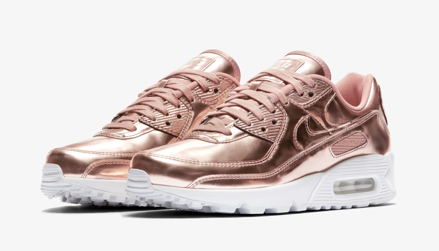 Nike Air Max 90 Rose Gold Liquid Metal
