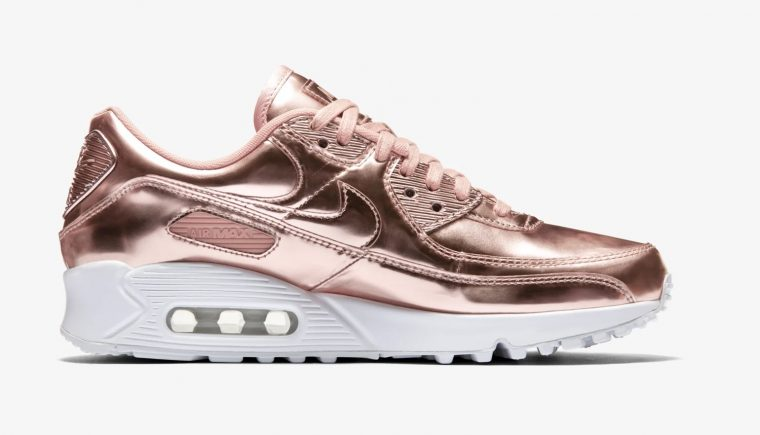 Nike Air Max 90 Rose Gold Liquid Metal right thumbnail image