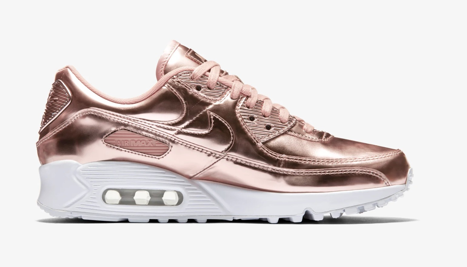 Nike Air Max 90 Rose Gold Liquid Metal right