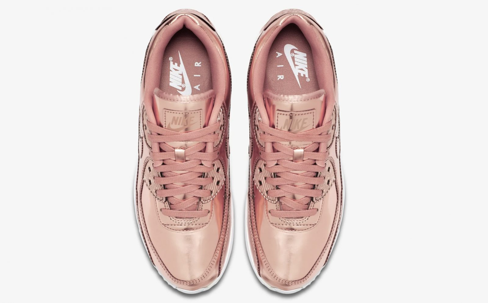 Nike Air Max 90 Rose Gold Liquid Metal laces